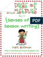 Senses of the Season Writing Freebie