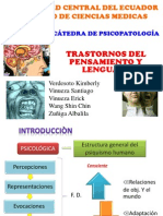 Psicopatologia del Pensamiento y del Lenguaje