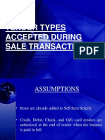 Tender Types Accepted During Sale Transaction 2