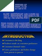 Taste,Preference,Habits FMCG