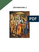Sri Valmiki Ramayana
