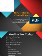How to Read a Clinical Paper