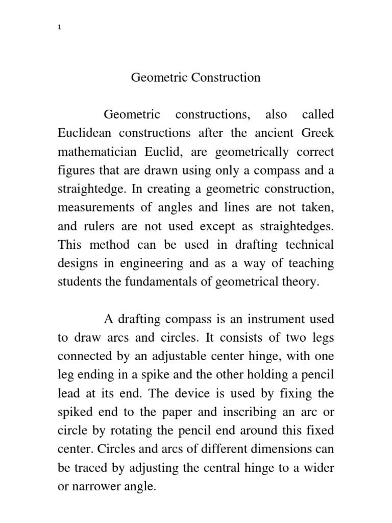 Draw10w Geometric Constructions Technical Drawing Geometry