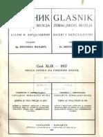 Glasnik Zemaljskog Muzeja 1937./god.49 sv.2