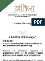 Aula 3 - Marketing Mix - Promocao