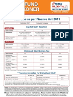 Mutual Fund Tax Reckoner 2011 - 2012