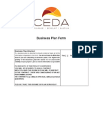 YFF Business Plan Form
