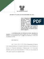 Decreto nº 22.492 - Altera o Regimento  do RICMS - Isenção para Motorista portador de deficiencia Taxista e Bugueiro
