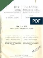 Glasnik Zemaljskog Muzeja 1939./god.51 sv.2