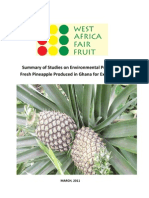 C Footprint of Pineapple Production and Transport WAFF