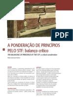 A ponderação de princípios pelo STF