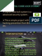 Digital Code Lock System Ppt