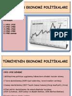 TÜRKİYE'DE  EKONOMİ POLİTİKALARI