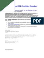 Contoh Proposal PTK Penelitian Tindakan Kelas