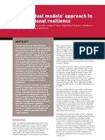 A Conceptual Models Approach to Organisational Resilience