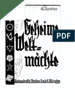 1936 - S. Ipares - Geheime Weltmächte