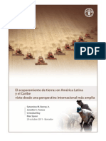 El acaparamiento de tierras en América Latina y el Caribe