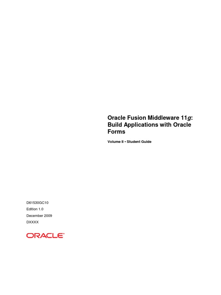 Oracle forms data blocks on different sources - 8 Oracle Fusion Middle Ware 11g Build Applications With Oracle Forms Vol 2 Pl Sql Parameter Computer Programming
