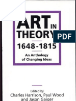 Art in Theory, 1648-1815- An Anthology of Changing Ideas, Volume 1
