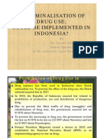 Decriminalization of Drug Use in Indonesia_La Ode Ida