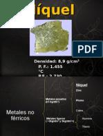 Níquel - Exposición ciencia de los materiales