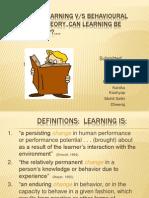 Cognitive Learning vs Behavioural GB