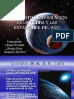 MOVIMIENTO DE TRASLACIÓN DE LA TIERRA Y LAS