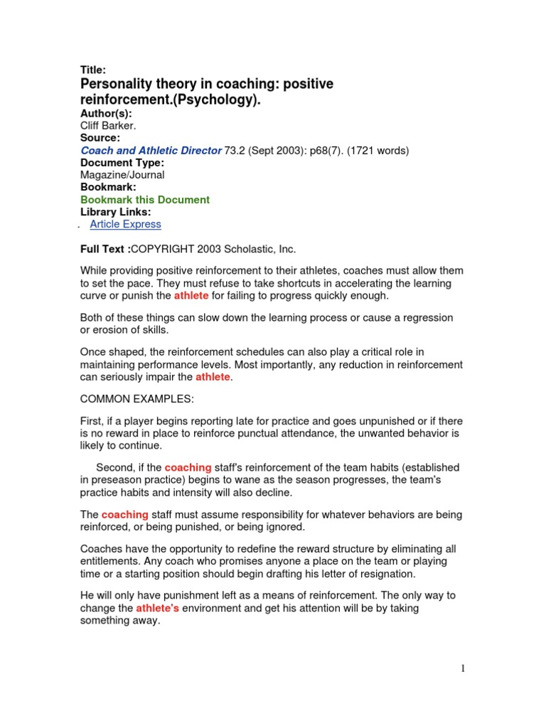 behavioral personality theory and habits