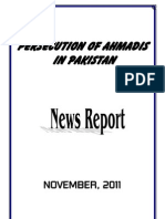 Monthly News Report - Ahmadiyya Persecution in Pakistan - November, 2011