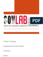 SovLab - Georgian effort towards rethinking the past