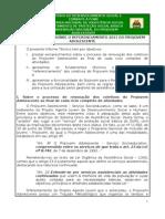 Informe Tecnico Referenciamento 2011