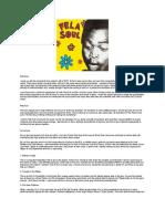 Gummy Soul - Fela Soul - Liner Notes