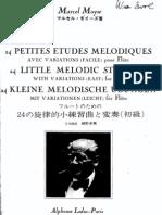 Moyse 24 Short Melodious Studies