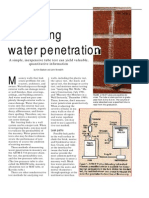 Measuring Water Penetration