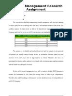 Portfolio Management Research Assignment