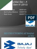 Bajaj Restructuring