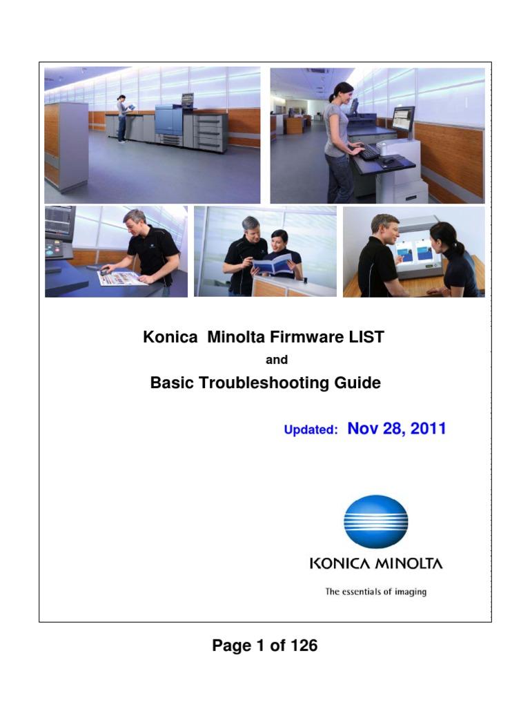 Konica Minolta FIRMWARE List | Remote Desktop Services | Portable Document  Format