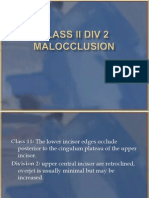 Treatment of Class II Div 2 Malocclusion