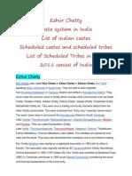 Ezhur Chetty and Caste System in India