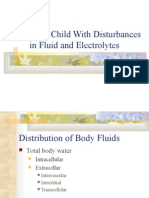 Care of the Child With Disturbances in Fluid