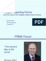 Air New Zealand Fatig Form
