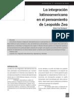 La integración latinoamericana en el pensamiento de Leopoldo Zea. Edwin Cruz Rodríguez