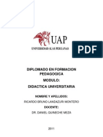 Trabajo Completo Modulo 2 Didactica Universitaria - Ricardo Landazuri Montero