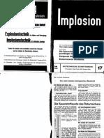 Implosion - Heft 017 - (1965) Schauberger - Biotechnische Schriftenreihe