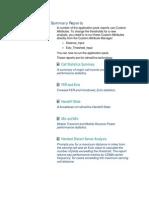 CDMA Summary Reports