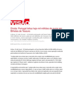 Portugal Leiloa Hoje Mil Milhoes Em Bilhetes de Tesouro-Declaracoes de Bruno Costa- 21.4.2010 Varios