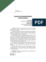 Ctin Popescu Towards the Respiritualization of the Economics