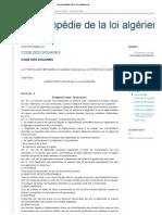 code des douanes algérienne