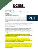 Risco de Portugal entre o do Vietname e o do Líbano - Economia - Jornal de negócios online_22042010