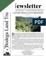 Spring 2011 Bodega Land Trust Newsletter